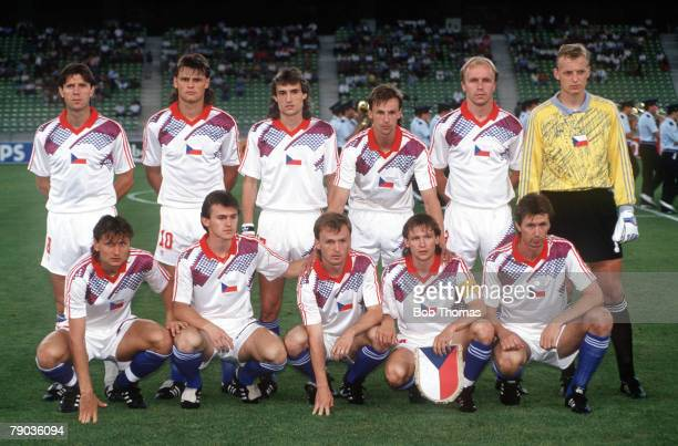 World Cup Finals Second Phase Bari Italy 23rd June Czechoslovakia 4 v Costa Rica 1 Czechoslovakia pose for a team group before the match