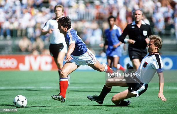 World Cup Finals Second Phase Madrid Spain 28th June France 1 v Austria 0 France's Gerard Soler gets away from Austria's Erich Obermayer
