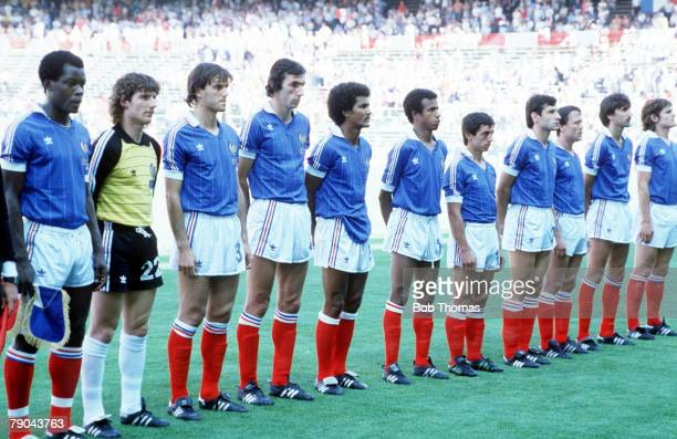 World Cup Finals Second Phase Madrid Spain 28th June France 1 v Austria 0 The French team line up before the match