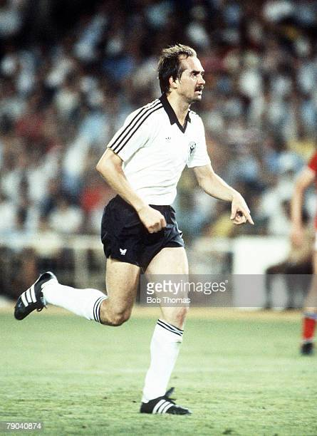 World Cup Finals Second Phase Madrid Spain 29th June England 0 v West Germany 0 West Germany's Uli Stielike
