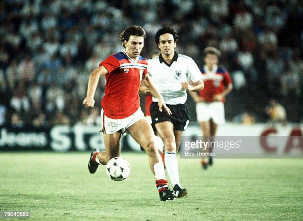 World Cup Finals Second Phase Madrid Spain 29th June England 0 v West Germany 0 England's Bryan Robson gets away from West Germany's Hansi Muller