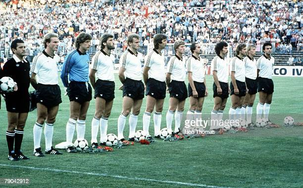 World Cup Finals Second Phase Madrid Spain 29th June England 0 v West Germany 0 The West German team line up before the match