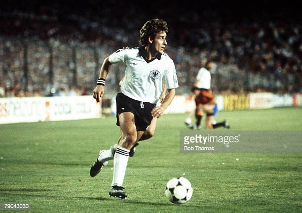 World Cup Finals Second Phase Madrid Spain 2nd July Spain 1 v West Germany 2 West Germany's Pierre Littbarski