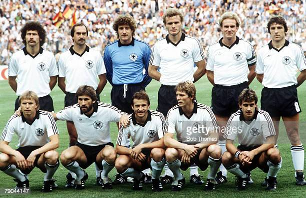 World Cup Finals Second Phase Madrid Spain 2nd July Spain 1 v West Germany 2 The West German team group before the match