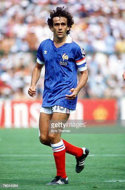 World Cup Finals, Second Phase, Madrid, Spain, 4th July France 4 v Northern Ireland 1, France's Michel Platini