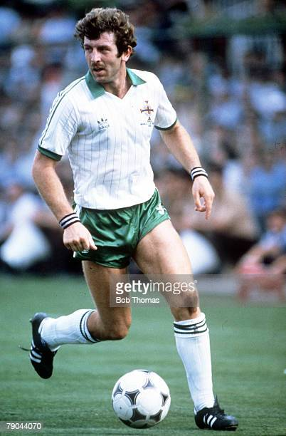 World Cup Finals Second Phase Madrid Spain 4th July France 4 v Northern Ireland 1 Northern Ireland's Gerry Armstrong