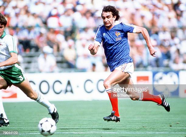 World Cup Finals Second Phase Madrid Spain 4th July France 4 v Northern Ireland 1 France's Dominique Rocheteau