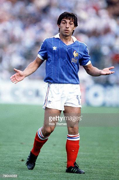World Cup Finals Second Phase Madrid Spain 4th July France 4 v Northern Ireland 1France's Alain Giresse