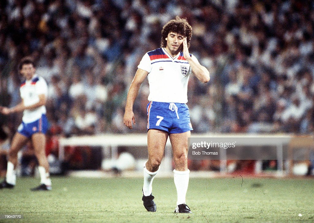 World Cup Finals, Second Phase, Madrid, Spain, 5th July, 1982, England 0 v Spain 0, England's Kevin Keegan looks dejected during the match