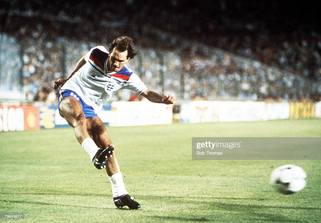 1982 World Cup Finals. Second Phase. Madrid, Spain. 5th July, 1982. England 0 v Spain 0. England's Ray Wilkins. : News Photo