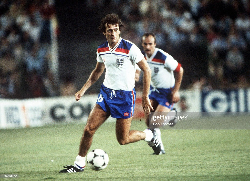 1982 World Cup Finals. Second Phase. Madrid, Spain. 5th July, 1982. England 0 v Spain 0. England's Trevor Francis. : News Photo