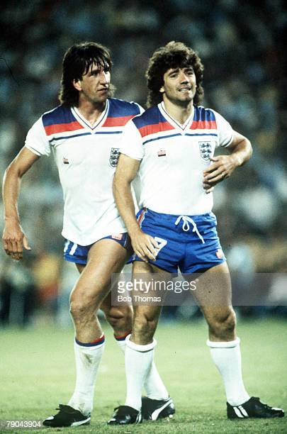 World Cup Finals Second Phase Madrid Spain 5th July England 0 v Spain 0 England's Paul Mariner consoles teammate Kevin Keegan after he missed a...