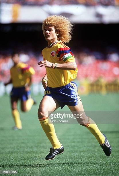 World Cup Finals Second Phase Naples Italy 23rd June Cameroon 2 v Colombia 1 Colombia's Carlos Valderrama