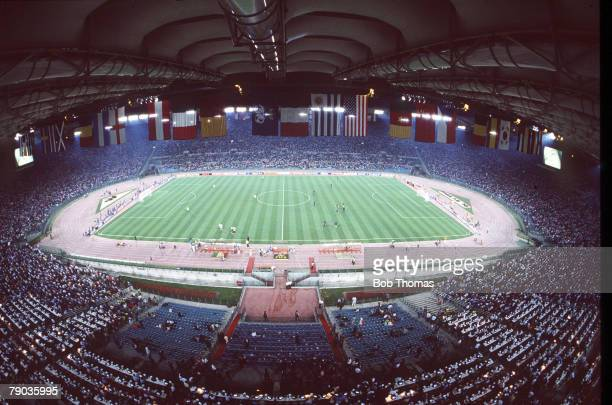 World Cup Finals Second Phase Rome Italy 25th June Italy 2 v Uruguay 0 A general view of the Stadio Olimpico before the match
