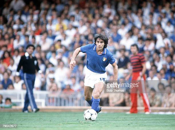 World Cup Finals SemiFinal Barcelona Spain 8th July Italy 2 v Poland 0 Italy's Bruno Conti