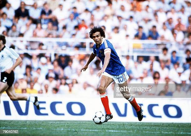 World Cup Finals, Semi-Final, Seville, Spain, 8th July West Germany 3 v France 3, , France's Michel Platini