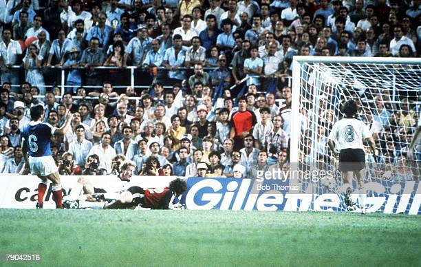 World Cup Finals SemiFinal Seville Spain 8th July West Germany 3 v France 3 Karl Heinz Rummenigge scores to make it 23 to France