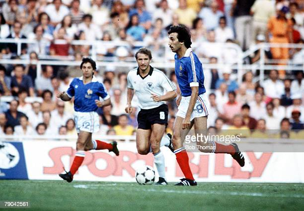 World Cup Finals SemiFinal Seville Spain 8th July West Germany 3 v France 3 France's Bernard Genghini