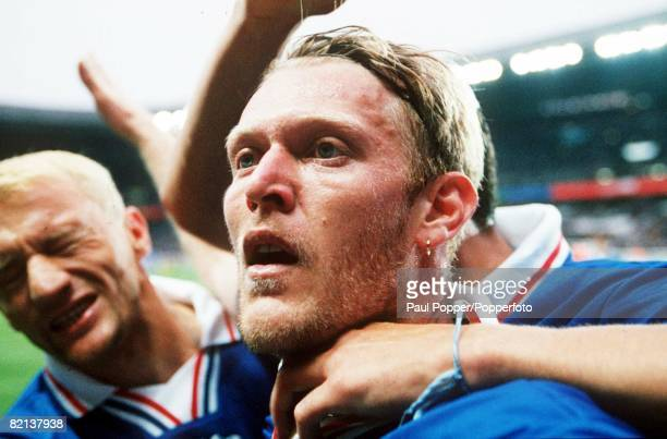 World Cup Finals, St, Denis, France, 11th JULY 1998, Third Place Play-Off, Croatia 2 v Holland 1, Croatia's Robert Prosinecki, celebrates his first...