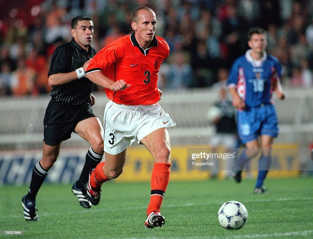 1998 World Cup Finals. St. Denis, France. 11th July, 1998. Third Place Play-Off. Croatia 2 v Holland 1. Jaap Stam, Holland. : News Photo