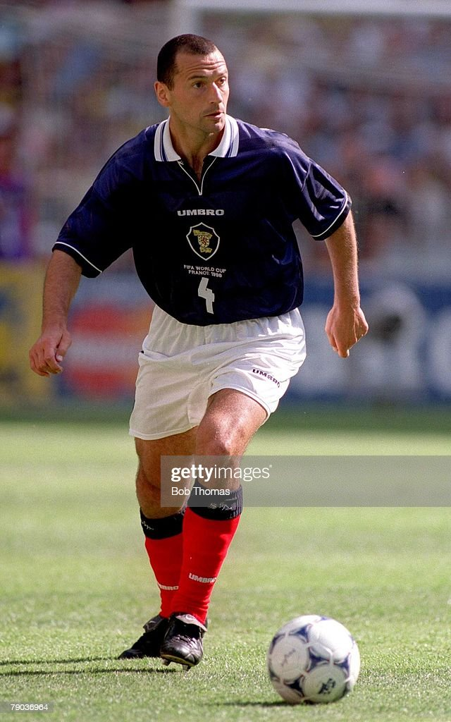 1998 World Cup Finals. St Denis. Paris. 10th June, 1998. Brazil 2 v Scotland 1. Colin Calderwood, Scotland : News Photo