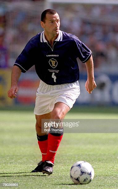 World Cup Finals St Denis Paris 10th June Brazil 2 v Scotland 1 Colin Calderwood Scotland