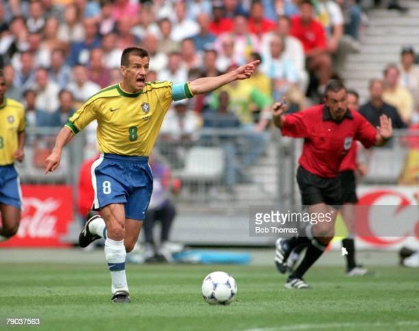 World Cup Finals, St Denis, Paris, 10th June Brazil 2 v Scotland 1, Dunga, Brazil