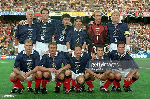 World Cup Finals St Etienne France 23rd June 1998 Scotland 0 v Morocco 3 The Scotland team lineup for a group photograph