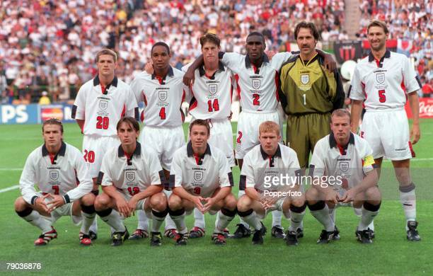 World Cup Finals St Etienne France 30th June England 2 v Argentina 2 England team group before the match the match
