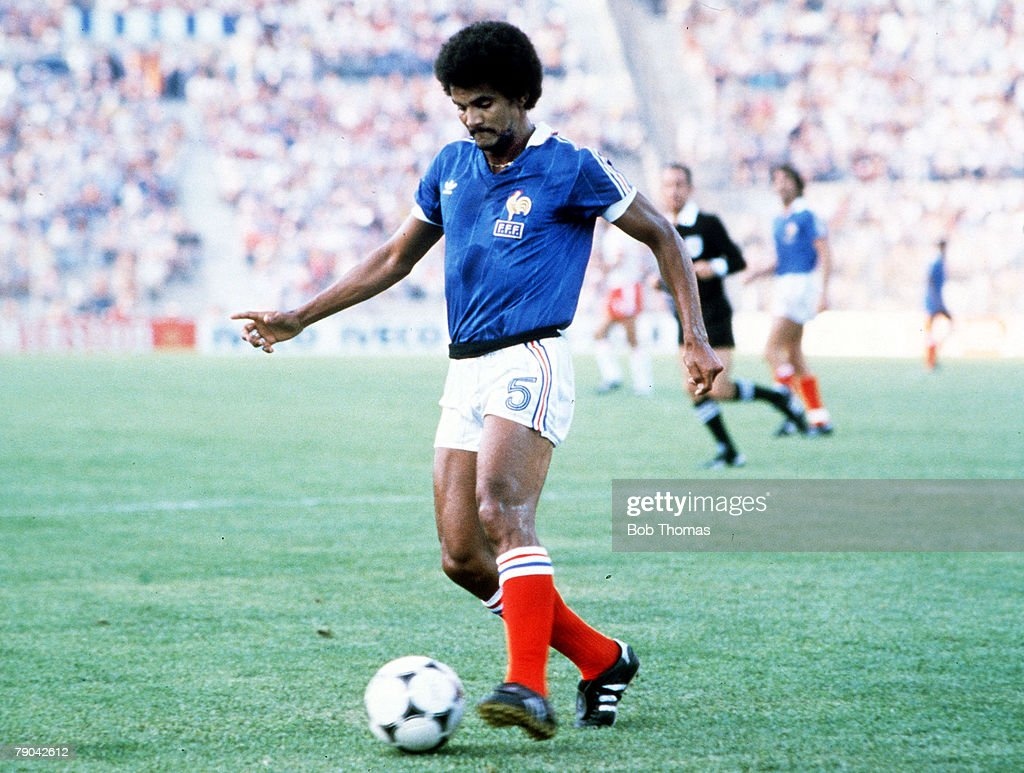 1982 World Cup Finals. Third Place Play-Off. Alicante, Spain. 10th July, 1982. Poland 3 v France 2. France's Gerard Janvion. : News Photo