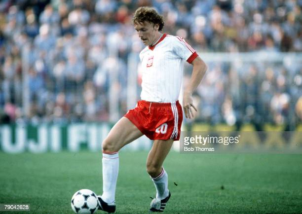 World Cup Finals Third Place PlayOff Alicante Spain 10th July Poland 3 v France 2 Poland's Zbigniew Boniek