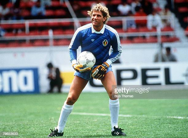 World Cup Finals Toluca Mexico 11th June Belgium 2 v Paraguay 2 Belgian goalkeeper Jean Marie Pfaff