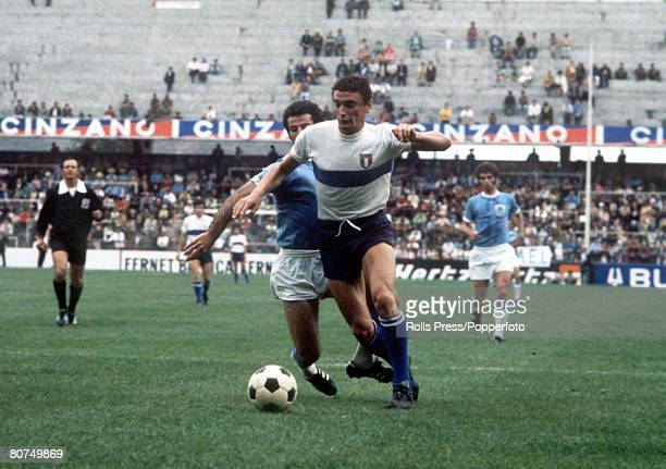World Cup Finals, Toluca, Mexico, 11th June Italy 0 v Israel 0, Italy's Luigi Riva gets away from an Israeli defender during the two teams Group Two...