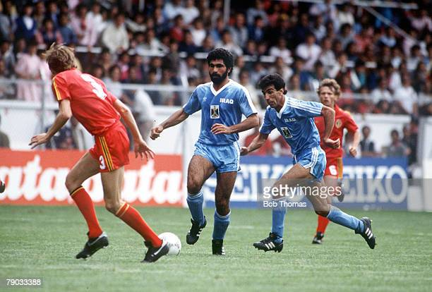 World Cup Finals Toluca Mexico 8th June Belgium 2 v Iraq 1 Iraq's Majeed on the ball