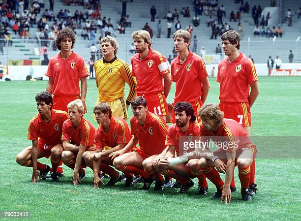 World Cup Finals Toluca Mexico 8th June Belgium 2 v Iraq 1 The Belgium team pose for a group photograph before the match