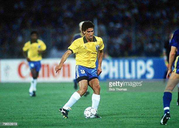 World Cup Finals Turin Italy 10th June Brazil 2 v Sweden1 Brazil's Careca on the ball