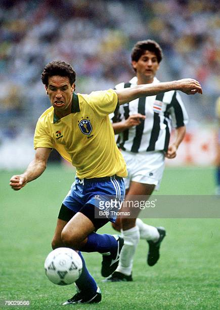 World Cup Finals Turin Italy 16th June Brazil 1 v Costa Rica 0 Brazil's Careca moves forward with the ball