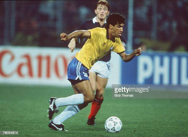 World Cup Finals Turin Italy 20th June Brazil 1 v Scotland 0 Brazil's Careca on the ball