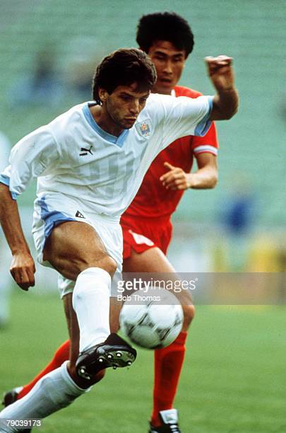 World Cup Finals Udine Italy 21st June Uruguay 1 v South Korea 0 Uruguay's Jose Herrera on the ball