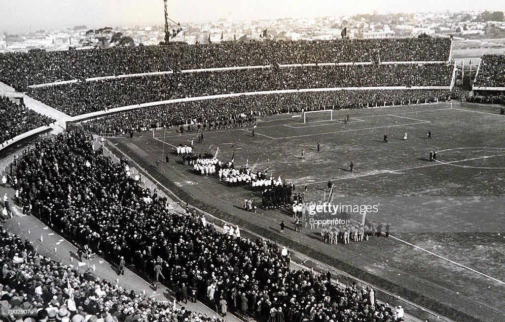 World Cup Finals, 1930. Uruguay. 18th July, 1930. Opening of the Centenary Stadium in Montevideo. : News Photo