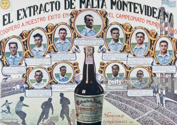 World Cup Finals Uruguay A beer advert featuringthe first ever World Champions Uruguay