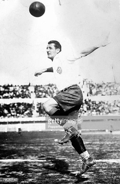 World Cup Finals Uruguay Uruguayan captain Jose Nasazzi in action during the competition