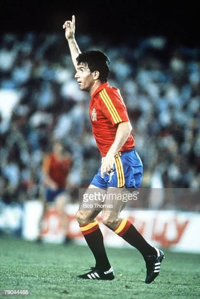 World Cup Finals Valencia Spain 16th June Spain 1 v Honduras 1 Spain's Juan Juanito