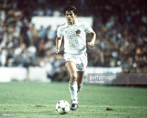 World Cup Finals Valencia Spain 20th June Spain 2 v Yugoslavia 1 Yugoslavia's Ivan Gudelj