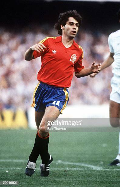 World Cup Finals Valencia Spain 20th June Spain 2 v Yugoslavia 1 Spain's Roberto Lopez Ufarte