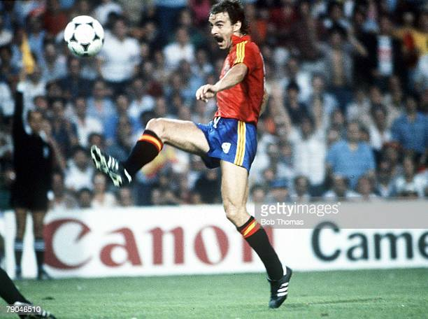 World Cup Finals Valencia Spain 20th June Spain 2 v Yugoslavia 1 Spain's Jesus Satrustegui