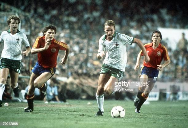 World Cup Finals Valencia Spain 25th June Spain 0 v Northern Ireland 1 Northern Ireland's Billy Hamilton