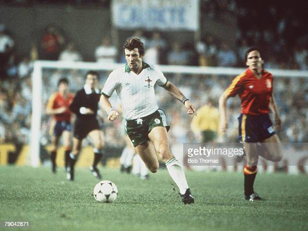 World Cup Finals Valencia Spain 25th June Spain 0 v Northern Ireland 1 Northern Ireland's Gerry Armstrong