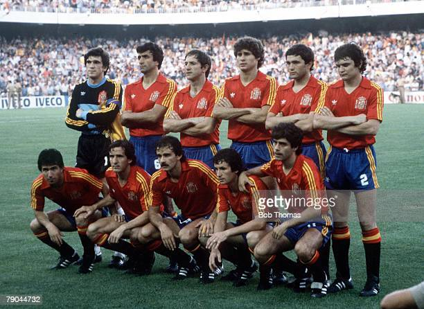 World Cup Finals Valencia Spain 25th June Spain 0 v Northern Ireland 1 The Spanish team group before the match
