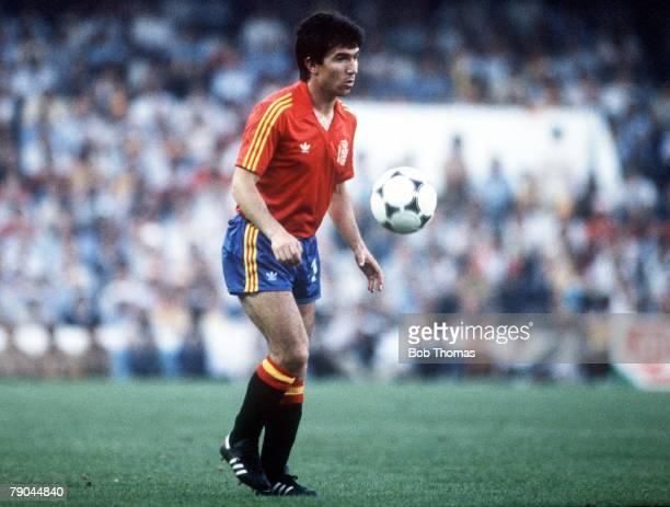 World Cup Finals Valencia Spain 25th June Spain 0 v Northern Ireland 1 Spain's Juan Juanito
